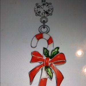 Candy cane belly ring